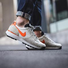 b1205e7800a Nike Lavadome Ultra  Stone Grey Safety Orange-Sail-Light Bone  available