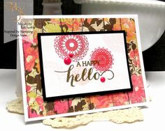 Inspired by Stamping, Mynn Kitchen, Delicate Doilies stamp set, Big Hello stamp set, handmade friendship card