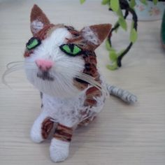 cat made by wool