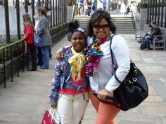 Dasia and her mommy in New York, fun time!