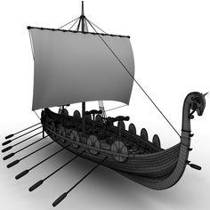 Viking Ship Model available on Turbo Squid, the world's leading provider of digital models for visualization, films, television, and games. Viking Life, Viking Warrior, Viking Yachts, Viking Longship, Norwegian Vikings, Viking Village, Scale Model Ships, Ancient Vikings, Viking Ship