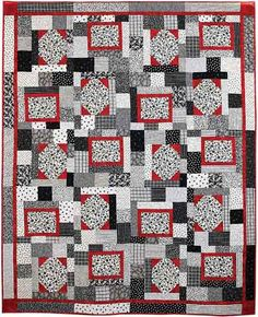 Black and White Quilt by Tricia Cribbs www.TurningTwenty.com