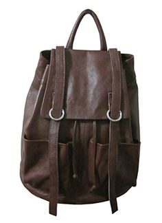 AmeriLeather Chief Backpack Dark Brown *** Click on the image for additional details.
