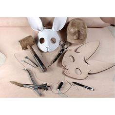 Pattern template Rabbit mask handmade Full size is paper that you can print in a print shop use a piece of international standard size paper Tiled size is paper, no matter it is DIN used worldwide ) or Letter size (which used in America and Canada