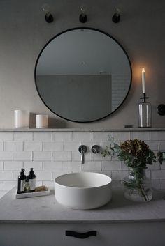 #bathroom #bathroomdesign #bathroomideas #scandinavianbathroom Scandinavian Bathroom, Scandinavian Home, Mirror, Furniture, Instagram, Home Decor, Decoration Home, Room Decor, Mirrors