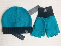 TOMMY HILFIGER Beanie HAT and GLOVES Set Size: ONE SIZE New SHIP FREE Teal Blue  | eBay Tommy Hilfiger Store, Teal Blue, Beanie Hats, Work Wear, Winter Outfits, Gloves, Fall Winter, Ship, Summer Dresses