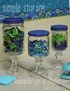 This teacher shares simple storage ideas with DIY apothecary jars for the classroom!