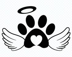 Check out our pet memorial svg selection for the very best in unique or custom, handmade pieces from our digital shops. Tatoo Dog, Cat Tattoo, Dog Memorial Tattoos, Cat Memorial, Pet Loss Quotes, Wood Craft Patterns, Dog Paws, Craft Sale, Finger Tattoos