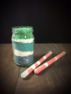 Badesalz im Thermomix gemischt. Einfach zu machen. Tolles Mitbringsel, für einen Adventskalener, kleines Weihnachtsgeschenk, zu Ostern oder zum Muttertag