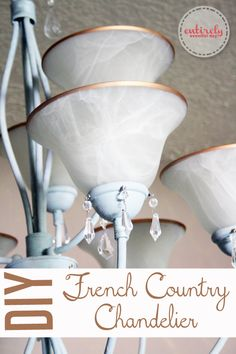 DIY French Country Chandelier. Take a builder-grade light fixture and make it awesome using chalk paint and other tricks. Click to see how. ...