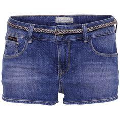 Guess Shorts Dalia ($76) ❤ liked on Polyvore featuring shorts, bottoms, short, шорты, cotton braided belt, zipper pocket shorts, polka dot shorts, guess shorts and woven belt