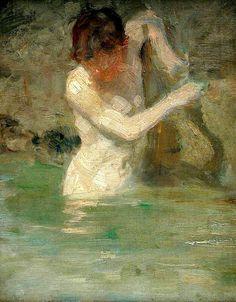 Henry Scott Tuke, Boy Bathing, c. 1886