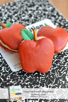 Apple Macarons for the teacher