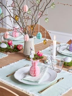 Tabletop, Tablescapes, Creative, Easter, Table Decorations, Spring, Holiday, Diy, Crafts