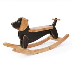 Wooden Rocking Dog Dachshund Ride On Toy - Antique Alive