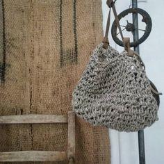 Best bag ever from @mrandmrscharlie I feel so very lucky!!! #favorite #bag #loveit# linen#rustic #rust#friends#gallery #artinhere #galleri #samsoe #samsø#art#loppefund#wood#wabisabi