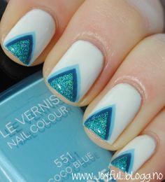 Triangles, blue, chevrons, tape... cool design