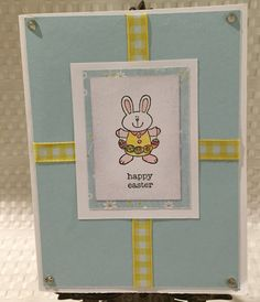 Happy Easter Stampin Up Card by CraftyCardandWreaths on Etsy