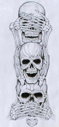 No Evil Art Print by Vernon Farris - No Evil Art Print by Vernon Farris . - No Evil Art Print by Vernon Farris – No Evil Art Print by Vernon Farris – - Totenkopf Tattoos, Evil Art, Geniale Tattoos, Marquesan Tattoos, Maori Tattoos, Yakuza Tattoo, Polynesian Tattoos, Tribal Tattoos, Full Sleeve Tattoos