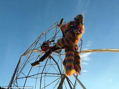 Living it up: Burning Man, the annual festival held in Nevada's Black Rock…