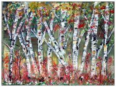 Birch Tree's 12 x 16  Acrylic's on Canvas