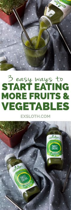 3 ways to get more greens in your diet #MySmallSip with Evolution Fresh and ExSloth.com #ad