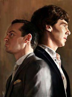 Sherlock & Moriarty (Sherlock Fanart)