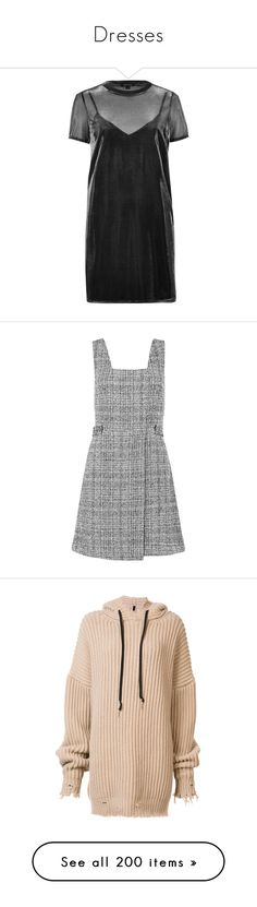 """""""Dresses"""" by shannonmichellex ❤ liked on Polyvore featuring dresses, t shirt dress, sheer mesh dress, grey t-shirt dresses, gray t-shirt dresses, sheer camisole, grey, new look dresses, pinafore dresses and gray dress"""