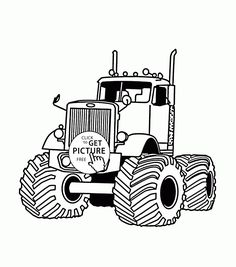 monster truck very large coloring page for kids transportation coloring pages printables free wuppsy