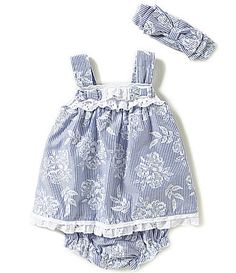 Wendy Bellissimo Baby Girls 312 Months StripedFloral Chambray Dress #Dillards
