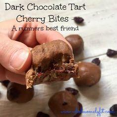 Dark Chocolate Tart Cherry Bites, nutty chewy bite @wholesomelybry