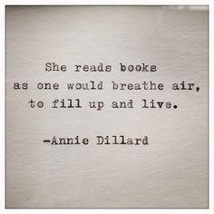 She reads books...