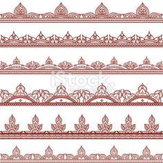 Mehndi Border Designs Royalty Free Stock Vector Art Illustration