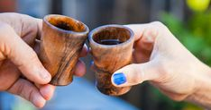 Make these walnut shot glasses and enjoy your spirits in a one-of-a-kind vessel.