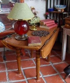 how to: drop-leaf table in miniature
