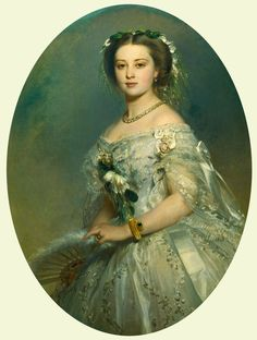 """Victoria, Princess Royal (1840-1901), later Empress Frederick of Germany"", Franz Xaver Winterhalter, 1857; Royal Collection Trust 404580"