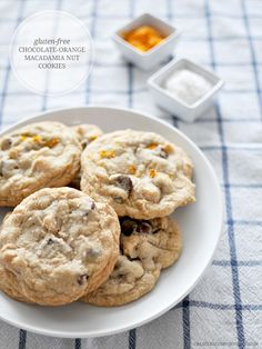 Chocolate-Orange Macadamia Nut Cookies (gluten-free)