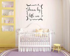Dream Big Little One Nursery or Bedroom Vinyl   nursery wall decor   baby crib   baby shower gift   Baby room decor ideas