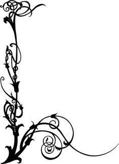 Art Nouveau Swirls idea for walls or door.