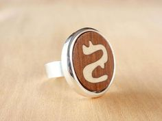 Wood ring womens wood ring wood rings for women wood inlay