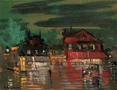 Konstantin Korovin (1861-1939)  Boulevard à Paris  signed C. Korovine (lower left)  oil on panel  5¾ x 7½ in. (14.2 x 18.5 cm.)