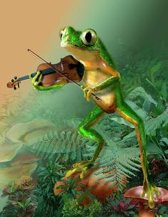 I do Love frogs & fiddles!