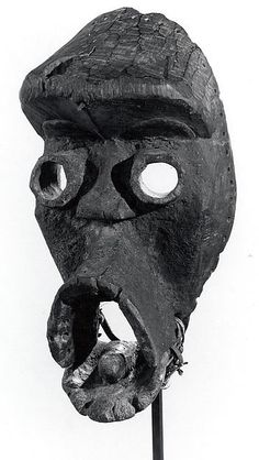 Face Mask Date: century Medium: Wood, sacrificial materials, cane strips, iron Accession Number: On view at The Met Fifth Avenue in Gallery 352 Liberia, Museum Of Fine Arts, Art Museum, Monuments, Cardboard Mask, Ceramic Mask, Mask Dance, Bird Masks, Africa Art