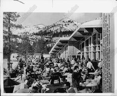 1960 AP Wire Photo Visitors Enjoy Sun At Squaw Valley WINTER OLYMPICS