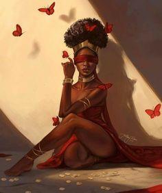 New beautiful art goddesses queens Ideas African, Beauty Art, Black Girl Cartoon, Female Art, Art Girl, Black Girl Art, Art, Magic Art, Black Love Art