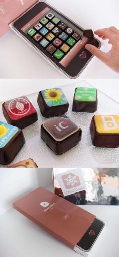 Hand made iPhone chocolates