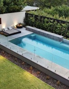 Photos from landscape design and garden design projects by Ian Barker Gardens. Swimming Pool Landscaping, Small Backyard Pools, Backyard Pool Designs, Small Pools, Pool Fence, Swimming Pool Designs, Outdoor Pool, Glass Pool Fencing, Patio Chico