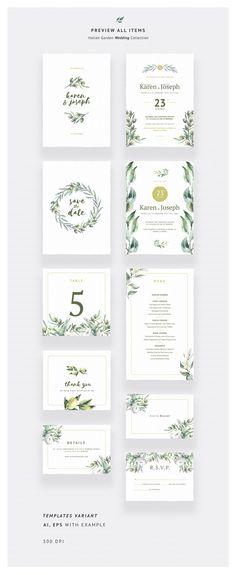 Italian Garden Wedding Collection by Spasibenko Art on @creativemarket