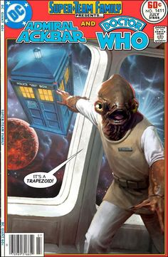 Super-Team Family: The Lost Issues!: Admiral Ackbar and Doctor Who I Am The Doctor, Doctor Who, Comic Book Covers, Comic Books, Dc Comics, Comic Font, Admiral Ackbar, Nerd Room, Dc World