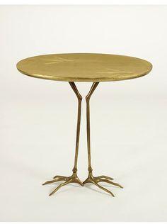 Meret Oppenheim, sidetable, 1939. Fun little table :)